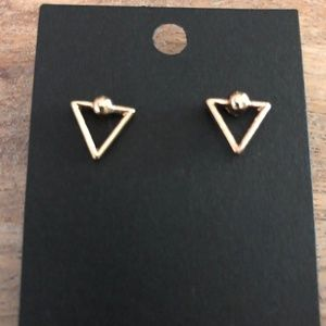 Jewelry - Gold Triangle Earrings 💕 3 for $15 💕